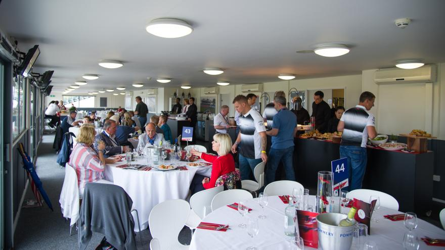 Brooklands Restaurant Hospitality. The VIP Restaurant is right in the heart of the action with a superb day's catering package